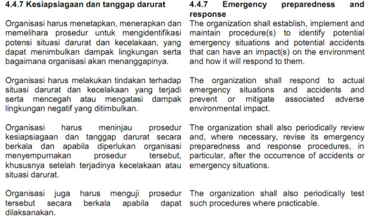 Klausul 4.4.7 ISO 14001